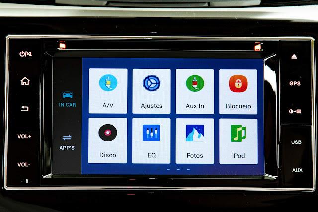 Nova Nissan Frontier 2018 - sistema Multi-APP