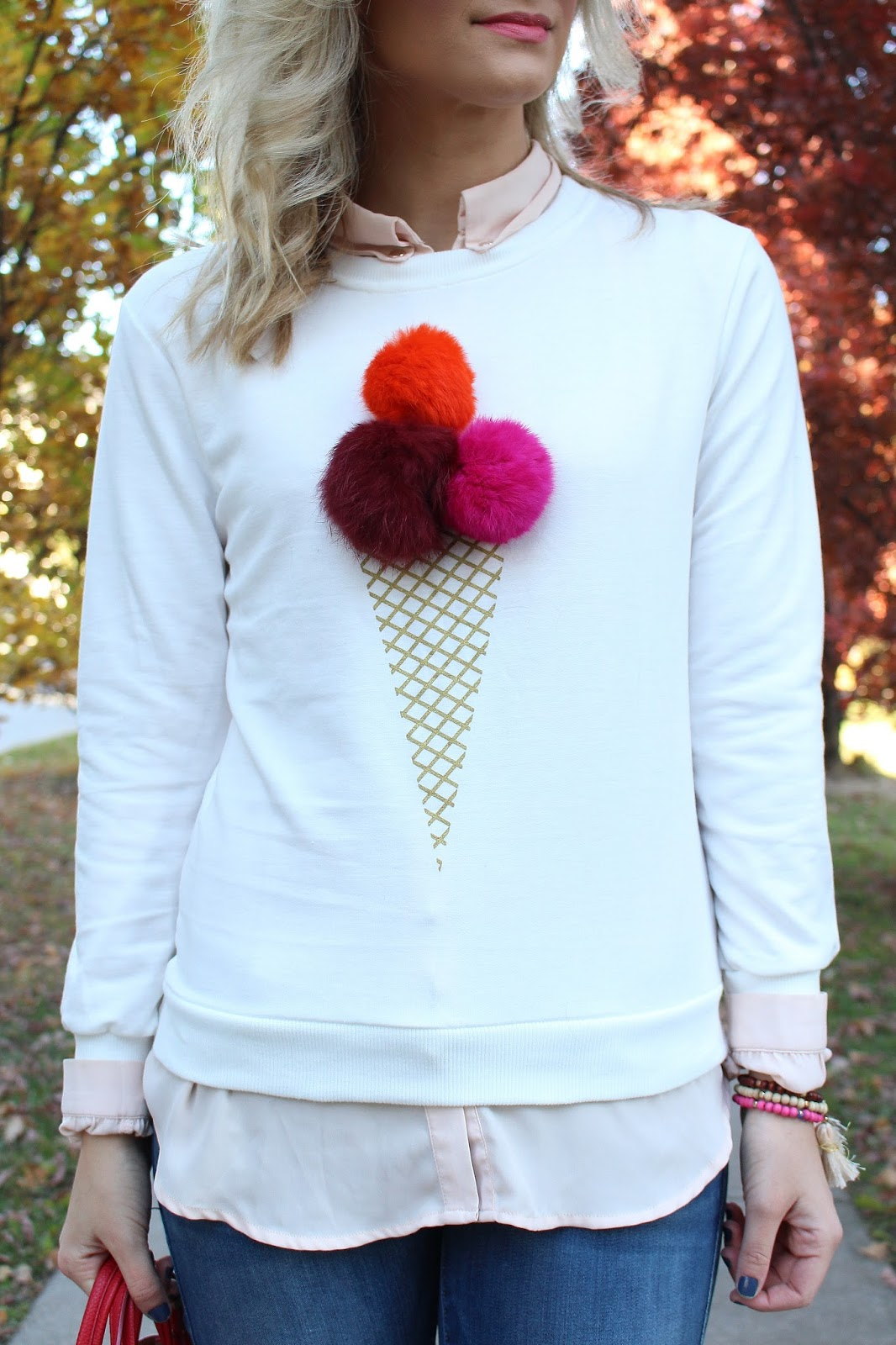Bijuleni SheIn icecream pom pom top