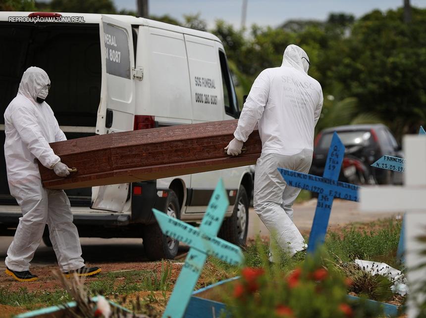 Brasil registra mais de mil mortes pelo coronavírus em 24h e 17.408 novos casos