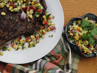 Chili Rub Steak With Corn Salsa