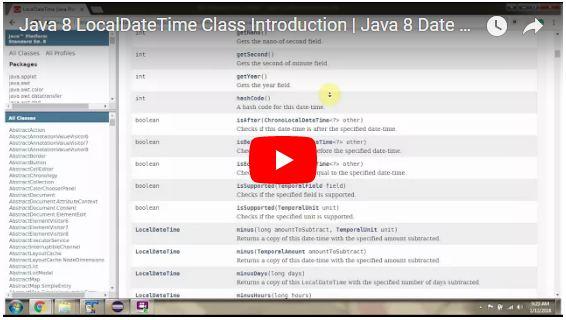 JAVA EE: Java 8 LocalDateTime Class Introduction | Java 8