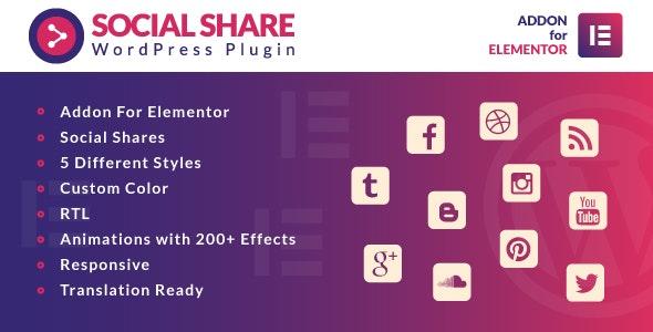 Download Social Share for Elementor v1.0 - WordPress Plugin