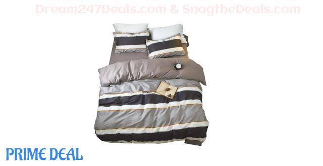 Geometric Striped Bedding Duvet Cover Sets 75% off