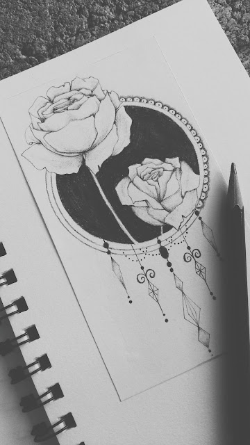 geometrical tattoo, geometrical rose tattoo design, tattoo designs