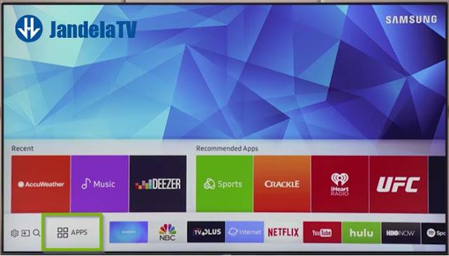cara download aplikasi di smart tv samsung