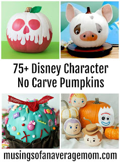 Disney No Carve Pumpkins