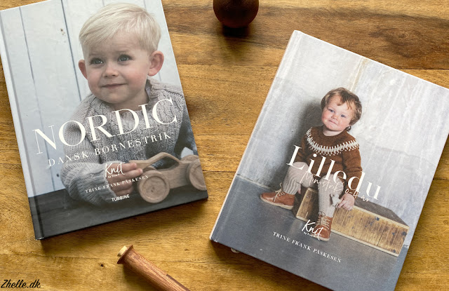 "the two books ""Nordic dansk børnestrik"" and ""Lilledu"". Both knitting books by Trine P"