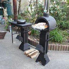 horno y cocina de hierro