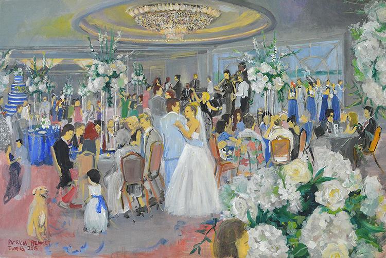Waters Edge Wedding Reception Painting June 13 2017