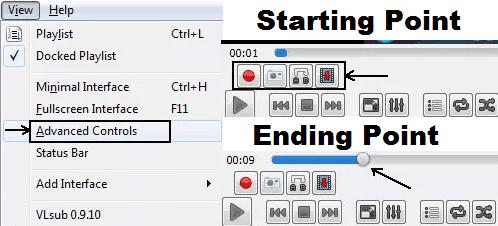 Trim Videos using VLC