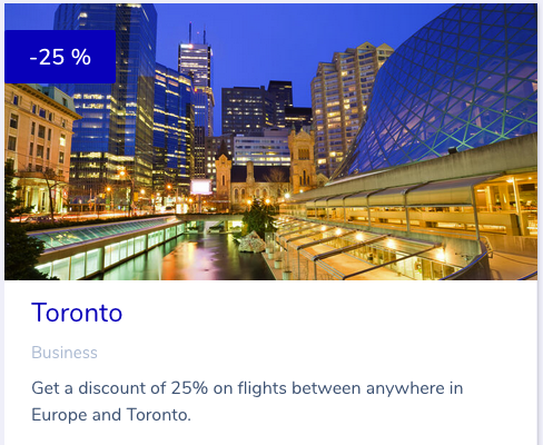 25% Off Business Class Award Tickets or Air France KLM between Calgary or Toronto & Europe