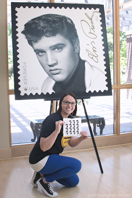 Posing with my Elvis stamps