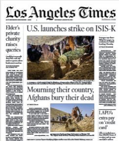 Los Angeles Times Magazine 28 August 2021