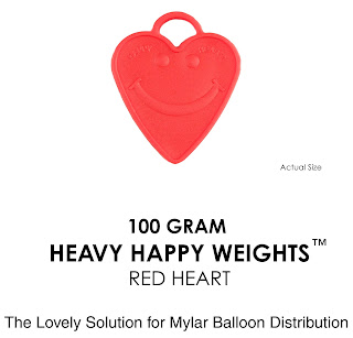 100 gram Heart Balloon Weights are Balloon Accessories for tethering Helium Filled Balloons is great for Valentine's Day Balloons and other holidays