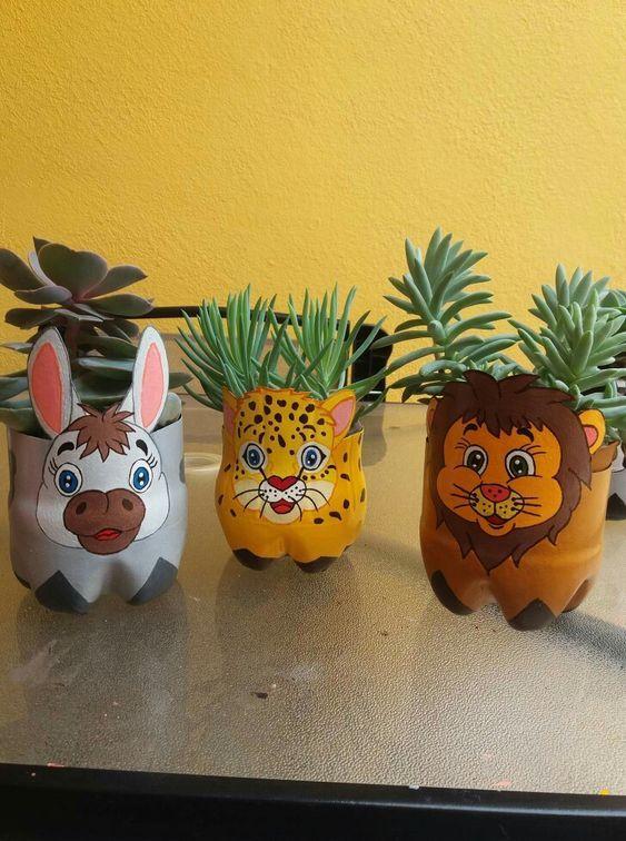 Vasos de Garrafa Pet Animais