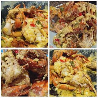 Resepi Ketam Mentega Telur Masin Yang Senang, Mudah & Sedap | Butter Salted Egg Crab As Simple As 1,2,3