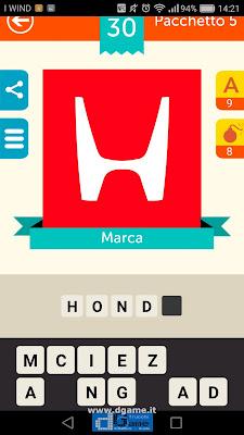 Iconica Italia Pop Logo Quiz soluzione pacchetto 5 livelli 30-75