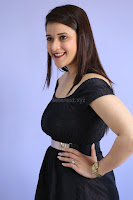 Mannara Chopra in Short Off Shoulder Black Dress ~  Exclusive 017.JPG