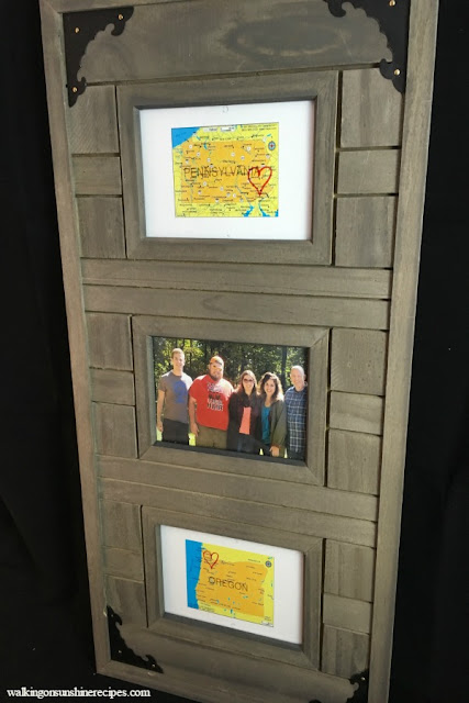 A great idea and gift to give to family members is this photo frame project.