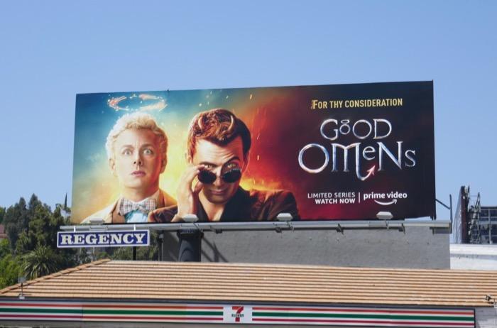 Good Omens For Thy Consideration Emmy billboard