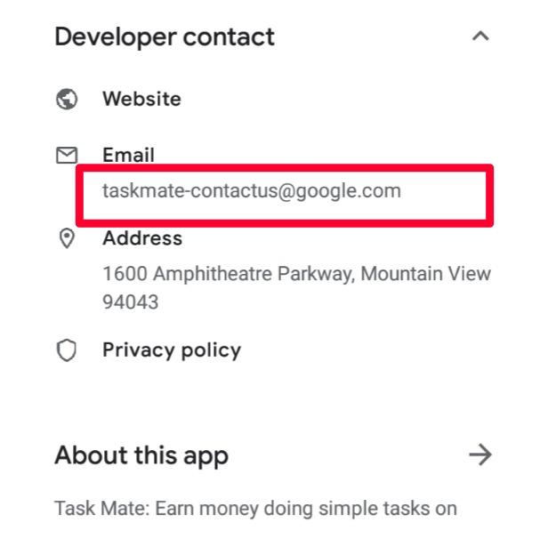 Google task mate contact