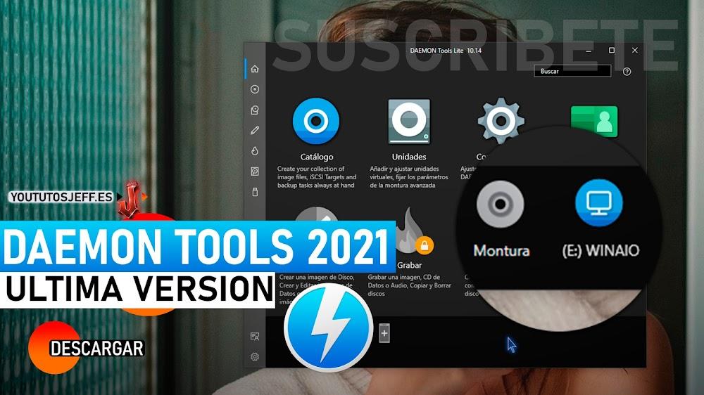 Como Descargar Daemon Tools Lite 2021 Ultima Versión Español, 32 y 64 Bits