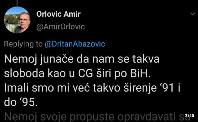 """Dritan čestitao promjene u BiH, Bosanci mu odgovorili: """"Ti si ustoličio SPC, praviš vladu sa fanaticima"""""""