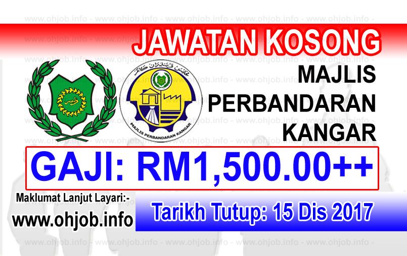 Jawatan Kerja Kosong Majlis Perbandaran Kangar logo www.ohjob.info disember 2017
