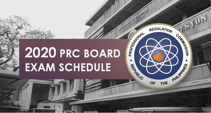 PRC board exam schedule 2020: online application, deadline of filing