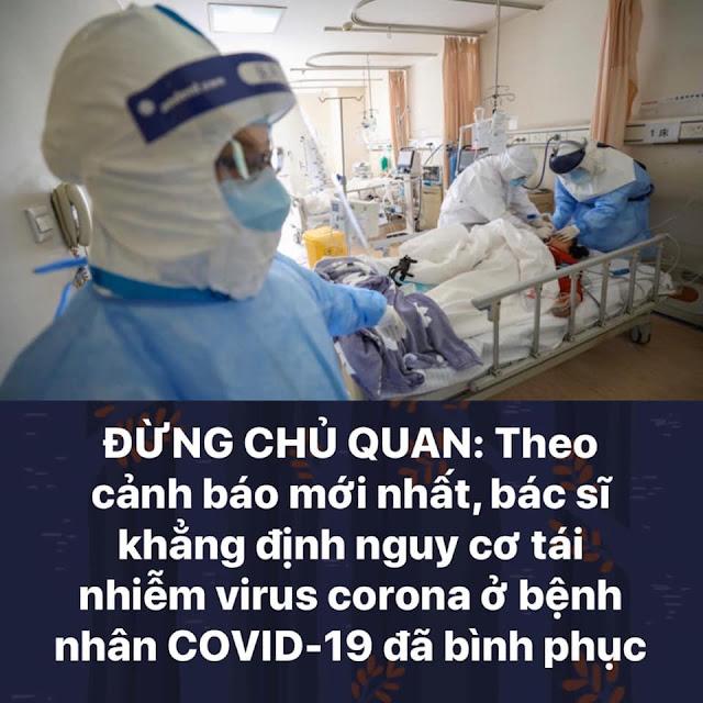 Cảnh báo: bác sĩ khẳng định nguy cơ tái nhiễm virus Corona ở bệnh nhân đã bình phục