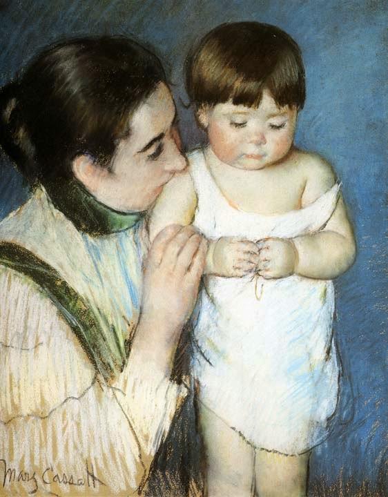 O Jovem Thomas e Sua Mãe - Pinturas de Mary Cassatt | Mulheres na pintura