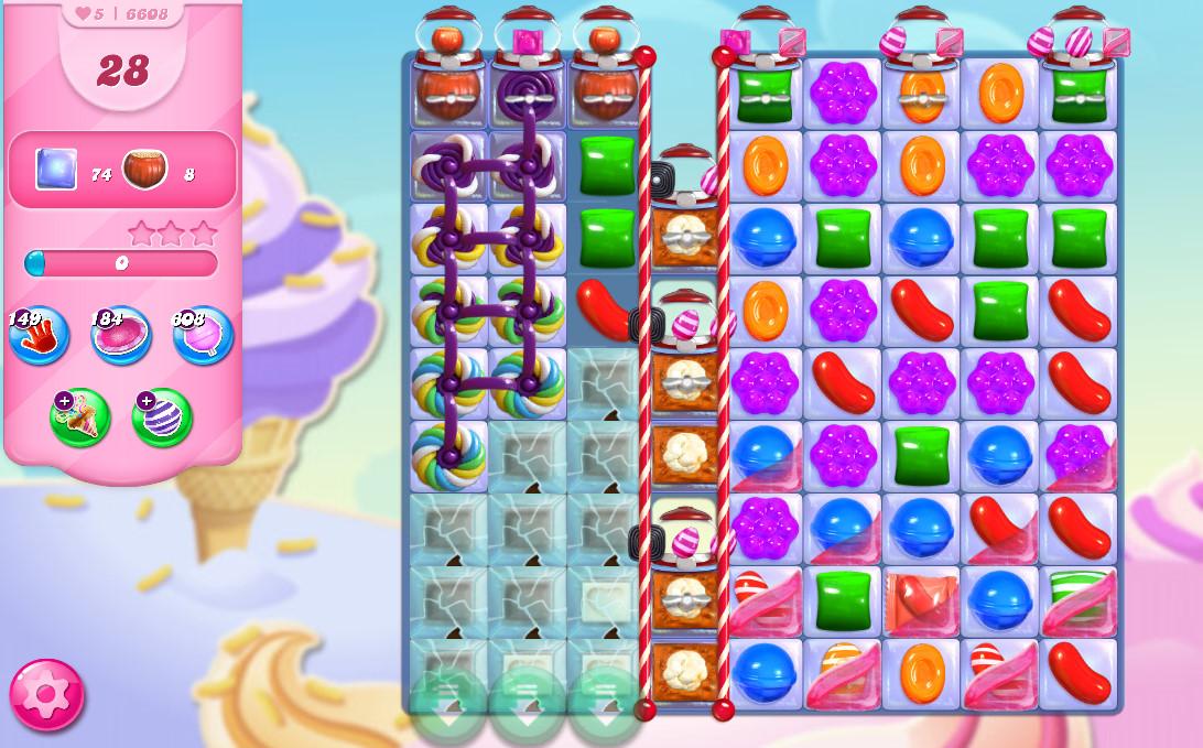 Candy Crush Saga level 6608