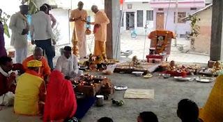 नयापुरा में हुई शिव प्राण प्रतिष्ठा
