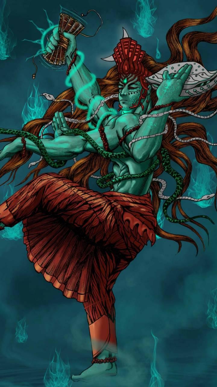 angry lord shiva wallpaper