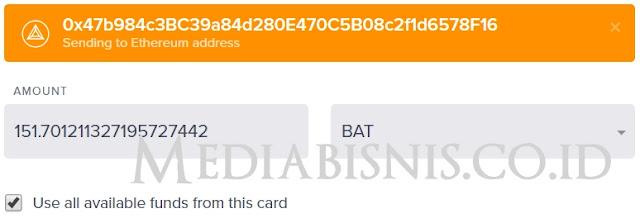 Cara WD BAT Uphold ke Indodax Exchange