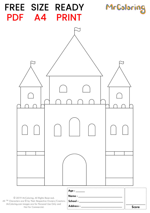 sand castle coloring pages tall round for kids
