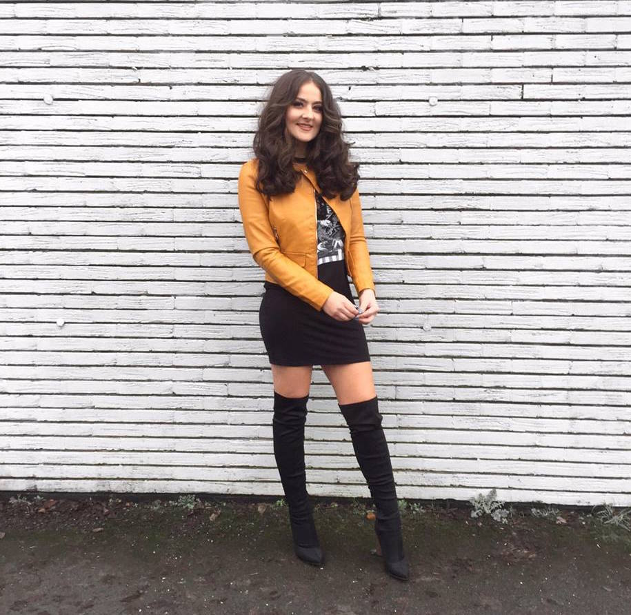 FASHION | Missy Empire Fashion Blogger Collaboration featuring a Mustard Faux Leather Jacket