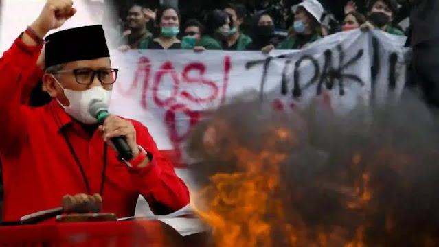 Sekjen PDIP, Hasto Kristiyanto mengklaim Demonstrasi anarkis, berimplikasi luas, menyentuh hal yang mendasar tentang terganggunya rasa aman dan ketertiban umum. Aparat penegak hukum harus bertindak tegas, dengan memprioritaskan tindakan hukum bagi pelaku tindakan anarkis, dan aktor yang berada di belakangnya.