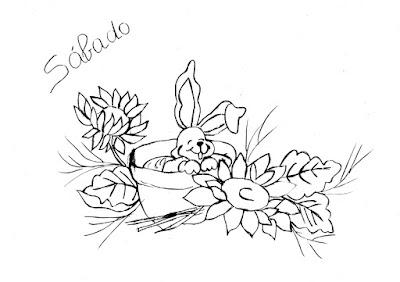 semaninha de coelhos e flores sábado