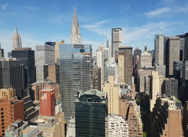 New York, skyline dall'hotel Millenium Hilton
