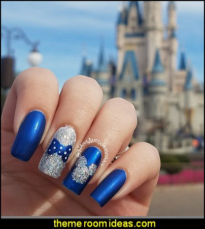 Disney-bound Blue and Holo Custom Press-on Nails