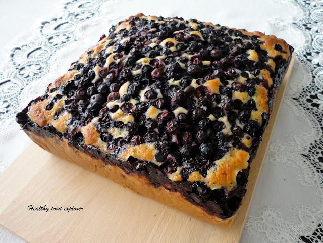 Szybki ciasto z owocami