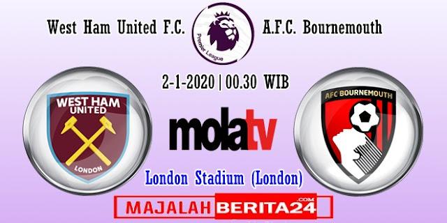 Prediksi West Ham United vs AFC Bournemouth — 2 Januari 2020
