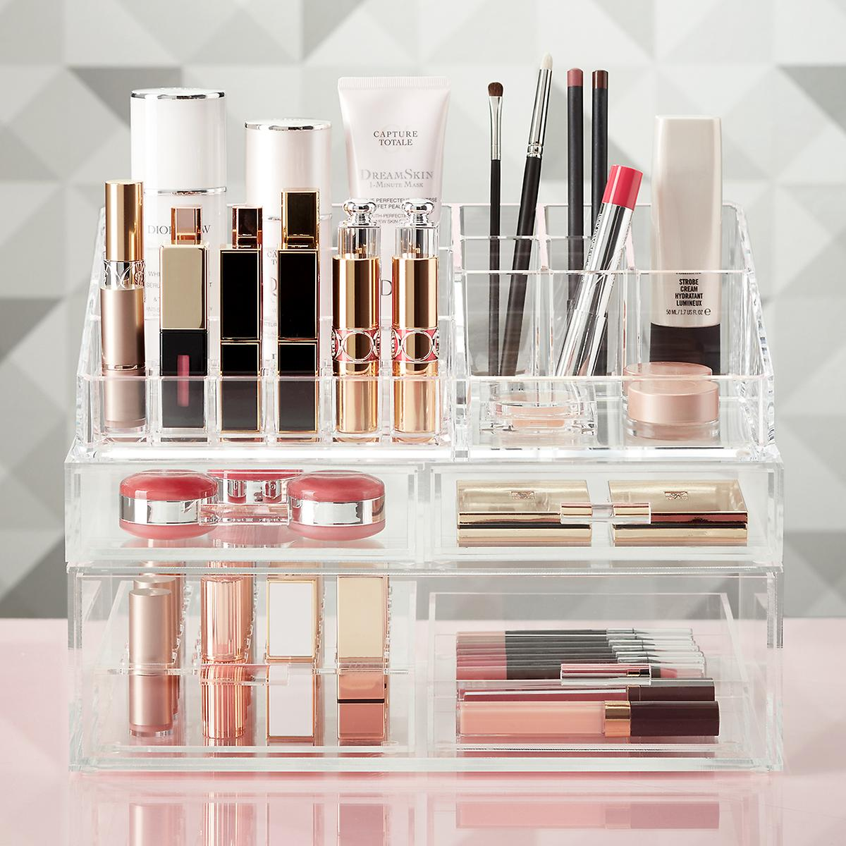 Luxe Acrylic Lipstick u0026 Makeup Storage Kit Sale $85.94 (Retail $109.94) This solution includes (1) Luxe 24-Section Divided Lipstick Insert (1) Luxe Short ... & lolau0027s secret beauty blog: The Container Store Luxe Acrylic Makeup ...
