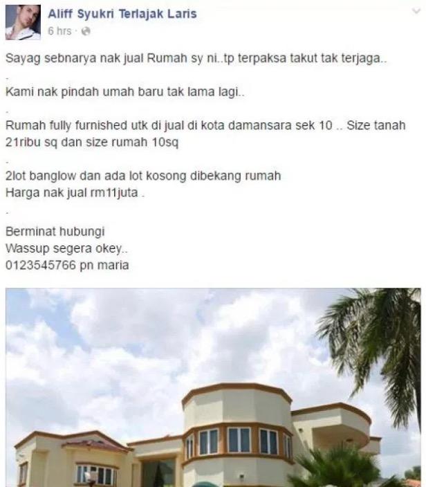 Inilah Sebab Mengapa Datuk Terlajak Laris Lelong Rumah Harga RM11 Juta