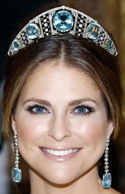 aquamarine kokoshnik tiara sweden princess madeleine