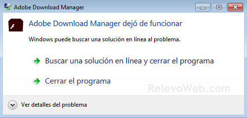 Adobe Download Manager deja de Funcionar