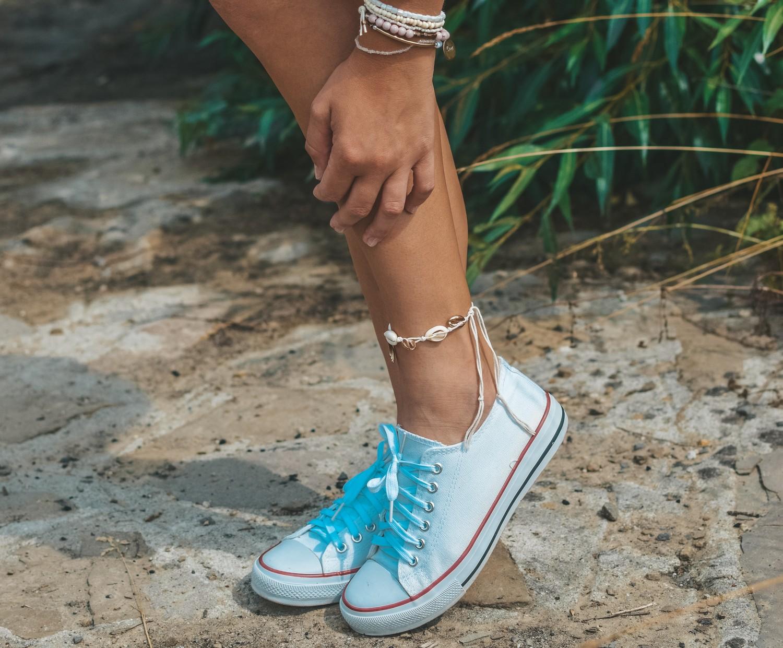 Mój letni ootd – niebieski top i białe spodenki