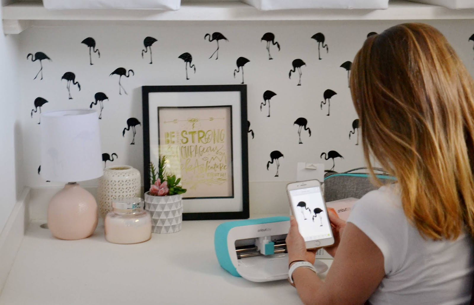 cricut joy to transform a wall