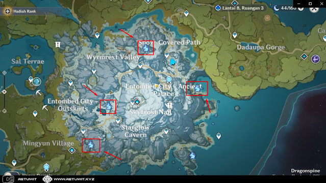 map agate Fortbearing level 8
